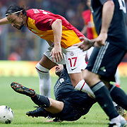 Galatasaray's Tomas UJFALUSI (C) during their Friendly soccer match Galatasaray between Liverpool at the TT Arena at Arslantepe in Istanbul Turkey on Saturday 28 July 2011. Photo by TURKPIX