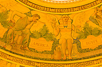 Details of the ceiling above the Main Reading Room, Thomas Jefferson Building, The Library of Congress, Washington D.C., U.S.A.