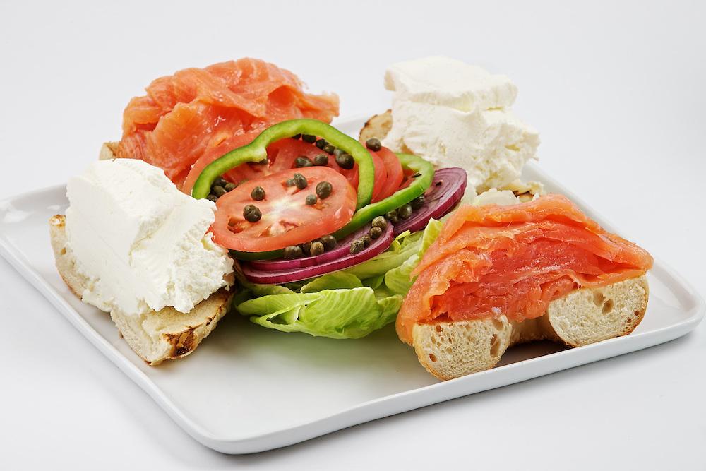 Carnegie Deli's Novie Salmon Platter