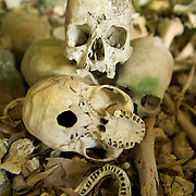 Human remains in a cave in West-Papua