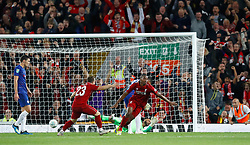 Liverpool's Daniel Sturridge celebrates scoring his side's first goal of the game his side's first goal of the game during the Carabao Cup, Third Round match at Anfield, Liverpool.