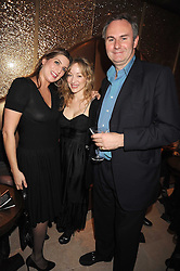 Left to right, VANESSA CASH, DENISE DE LA RUE and WILLIAM CASH  at a party to celebrate the 10th birthday issue of Spears Wealth Management Survey held at Molton House, South Molton Street, London on 25th November 2008.