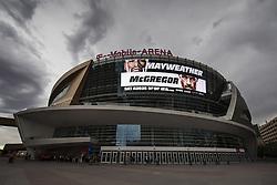August 23, 2017 - Las Vegas, NV, USA - 170823 ExteriÅ¡r av T-Mobile Arena, plats fÅ¡r boxningsgalan Mayweather vs McGregor, den 23 augusti 2017 i Las Vegas  (Credit Image: © Joel Marklund/Bildbyran via ZUMA Wire)