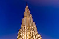 The Burj Khalifa (a.k.a. Burj Dubai), the tallest building in the world in downtown Dubai, United Arab Emirates