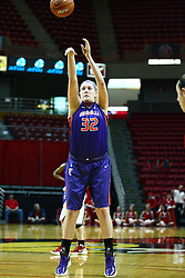 01 January 2012: Hannah Weedman takes a free throw  during an NCAA women's basketball game between the Evansville Purple Aces and the Illinois Sate Redbirds at Redbird Arena in Normal IL