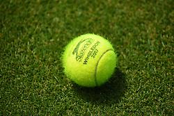 June 20, 2017 - London, United Kingdom - A tennis ball is seen on the lawn at AEGON Championships The Queen's Club, London on June 20, 2017. (Credit Image: © Alberto Pezzali/NurPhoto via ZUMA Press)