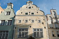 Riga, Latvia. Group of three early houses known collectively as the 'Three Brothers' (Tris brali). © Rudolf Abraham