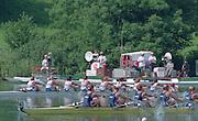 Lucerne, Switzerland. 1995 FISA WC III, Lake Rotsee, Lucerne,<br /> GBR W8+ NED W8+.<br /> [Mandatory Credit. Peter SPURRIER/Intersport Images]<br /> <br /> Image scanned from Colour Negative