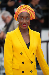 Maimouna N'Diaye arriving on the red carpet of 'Matthias Et Maxime (Matthias and Maxime)' screening held at the Palais Des Festivals in Cannes, France on May 22, 2019 as part of the 72th Cannes Film Festival. Photo by Nicolas Genin/ABACAPRESS.COM