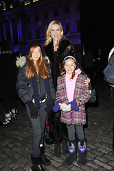 TANIA BRYER with MARISSA BARKER and FRANCESCA MOUFARRIGE at Skate presented by Tiffany & Co at Somerset House, London on 22nd November 2010.