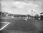 28/03/1959 <br /> 03/28/1959<br /> 28 March 1959 <br /> Soccer: F.A.I. Cup Semi-final St Patrick's Athletic v Cork Hibernians at Tolka Park, Dublin.