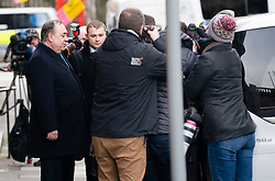 Edinburgh, Scotland, UK. 11 March, 2020.  Alex Salmond leaves the High Court in Edinburgh after the third day of his trial. He is accused of various sexual offences all of which he denies. Iain Masterton/Alamy Live News