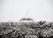 BA planes lie covered in snow on 18th December 2010. British Airways has cancelled all flights to and from London Heathrow due to very heavy snow. © under license to London News Pictures.