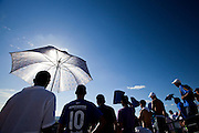Sete Lagoas_MG, Brasil...3a rodada do Campeonato Mineiro 2011 no Estadio Joaquim Henrique Nogueira, a Arena do Jacare em Sete Lagoas. Na oportunidade um dos maiores classicos do futebol brasileiro e o maior de Minas Gerais, Cruzeiro x Atletico-MG. ..State Championship 2011 at Joaquim Henrique Nogueira stadium, the Arena of Jacare at Sete Lagoas. In one of the greatest opportunity classics of Brazilian football and the biggest of Minas Gerais, Cruzeiro x Atletico-MG. ..Foto: NIDIN SANCHES / NITRO