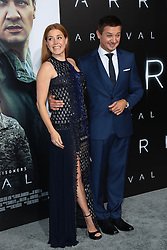 """Amy Adams and Darren Le Gallo at the premiere of """"Arrival"""".<br /> (Los Angeles, CA)"""