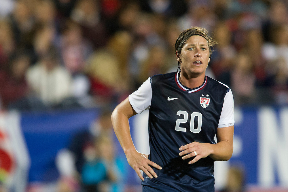 FRISCO, TX - JANUARY 31:  Abby Wambach #20 of the U.S. Women's National Team looks on against the Canadian Women's National Team on January 31, 2014 at Toyota Stadium in Frisco, Texas.  (Photo by Cooper Neill/Getty Images) *** Local Caption *** Abby Wambach