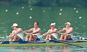 Lucerne, Switzerland. 1995 FISA WC III, Lake Rotsee, Lucerne,<br /> GER M4-<br /> [Mandatory Credit. Peter SPURRIER/Intersport Images]<br /> <br /> Image scanned from Colour Negative