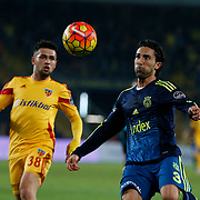 Fenerbahce's Hasan Ali Kaldirim (R) during their Turkish super league soccer match Fenerbahce between Kayserispor at the Sukru Saracaoglu stadium in Istanbul Turkey on Sunday 13 March 2016. Photo by TVPN/TURKPIX
