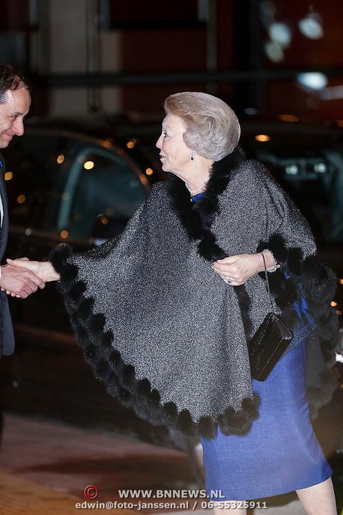 NLD/Utrecht/20130201 - Vertrek 75ste verjaardagfeest  Koninging Beatrix, vertrek van Beatrix Wilhelmina Armgard