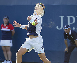 August 22, 2017 - New York, New York, United States - Cameron Norrie of Germany returns ball during qualifying game against Alexander Bublik of Kazakhstan at US Open 2017  (Credit Image: © Lev Radin/Pacific Press via ZUMA Wire)