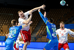 Rafal Przybylski of Poland during handball match between National Teams of Slovenia and Poland in Qualification Phase 2 of Men's EHF Euro 2022 Qualifiers, on March 9, 2021 in Arena Zlatorog, Celje, Slovenia. Photo by Vid Ponikvar / Sportida