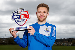 Sky Bet Football League 2 Player of the Month Matty Taylor of Bristol Rovers poses with his award - Mandatory byline: Rogan Thomson/JMP - 07/04/2016 - FOOTBALL - The Lawns Training Ground - Bristol, England - Sky Bet Football League Awards.