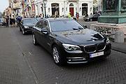 Bezoek van Zijne Majesteit Koning Filip en Hare Majesteit Koningin Matilda van België aan Nederland.Aankomst en ontvangst op Paleis Noordeinde.<br /> <br /> Visit of His Majesty King Filip and Her Majesty Queen Matilda of Belgium to Netherlands. Arrival and reception at Noordeinde Palace.<br /> <br /> op de foto / On the photo: De auto van de belgische koning