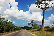Road to San Miguel de los Banos, Matanzas, Cuba.