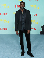 Actor Elijah Kelley arrives at the Los Angeles Premiere Of Netflix's 'The Harder They Fall' held at the Shrine Auditorium and Expo Hall on October 13, 2021 in Los Angeles, California, United States. Photo by Xavier Collin/Image Press Agency/ABACAPRESS.COM