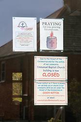 Covid 19 -  Emmanuel Baptist Church now empty and closed due to coronavirus, Swanage, Dorset UK April 2020