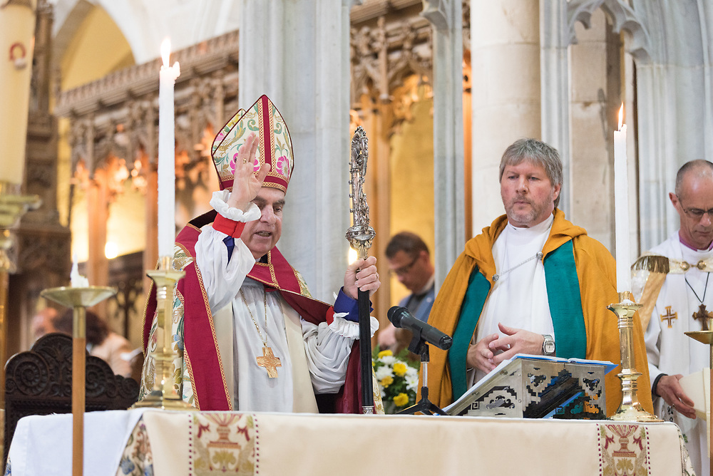 20 April 2019, Jerusalem: Easter Sunday service at the Cathedral Church of Saint George the Martyr, Jerusalem.