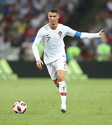 SOCHI, June 30, 2018  Cristiano Ronaldo of Portugal competes during the 2018 FIFA World Cup round of 16 match between Uruguay and Portugal in Sochi, Russia, June 30, 2018. (Credit Image: © Fei Maohua/Xinhua via ZUMA Wire)