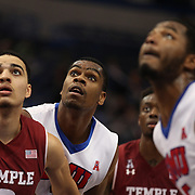 Yanick Moreira, (center), SMU, in action during the Temple Vs SMU Semi Final game at the American Athletic Conference Men's College Basketball Championships 2015 at the XL Center, Hartford, Connecticut, USA. 14th March 2015. Photo Tim Clayton