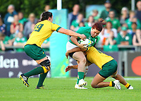 Rugby Union - 2017 Women's Rugby World Cup (WRWC) - Pool C: Ireland vs. Australia<br /> <br /> Ireland's Ciara O'Connor in action against Australia's Trilleen Pomare , at the UCD Bowl, Dublin.<br /> <br /> COLORSPORT/KEN SUTTON