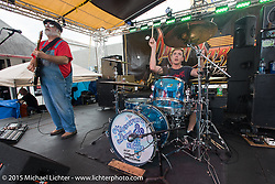 """""""Microwave Dave and the Nukes"""" play their great Blues at Main Street Station bar during Daytona Beach Bike Week 2015. FL, USA. March 14, 2015.  Photography ©2015 Michael Lichter."""