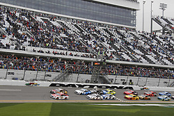 February 10, 2019 - Daytona, FL, U.S. - DAYTONA, FL - FEBRUARY 10: The start of the Advance Auto Parts Clash on February 10, 2019 at Daytona International Speedway in Daytona Beach, Florida  (Photo by Jeff Robinson/Icon Sportswire) (Credit Image: © Jeff Robinson/Icon SMI via ZUMA Press)