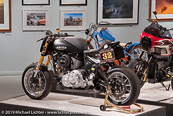 Roland Sands' RSD Race Chief custom Indian Chief Dark Horseracer in the More Mettle - Motorcycles and Art That Never Quit exhibition in the Buffalo Chip Events Center Gallery during the Sturgis Motorcycle Rally. SD, USA. Thursday, August 12, 2021. Photography ©2021 Michael Lichter.