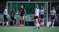 AMSTELVEEN -  Fay van der Elst (Adam) heeft gescoord   tijdens de hoofdklasse hockeywedstrijd dames, zonder publiek vanwege COVID-19, AMSTERDAM-SCHC (2-2). COPYRIGHT KOEN SUYK