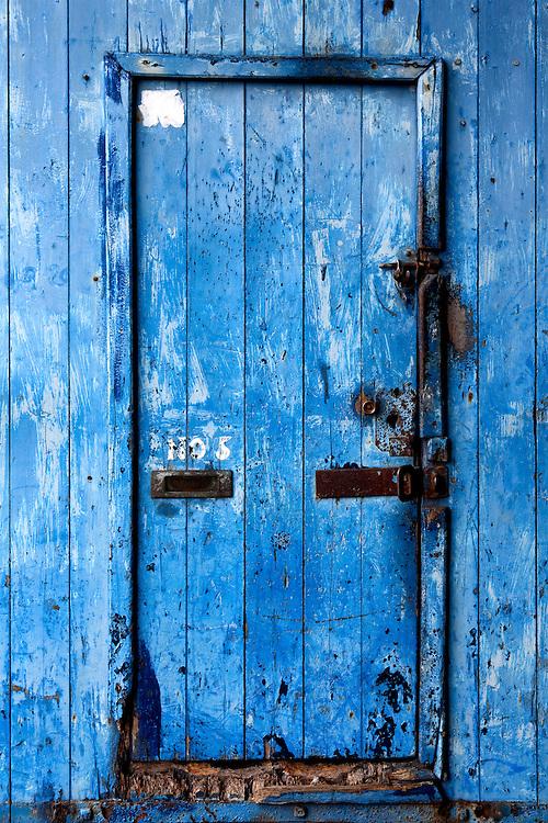 Grungy Blue Door