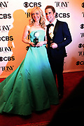 June 10, 2017-New York, New York-United States: (L-R) Actress Rachel Bay Jones and Actor Ben Platt attend the 71st Annual Tony Awards Media Room held at Radio City on June 11, 2017 in New York City. The Tony Awards recognize achievement in Broadway productions during the 2016–17 season.  (Photo by Terrence Jennings/terrencejennings.com)