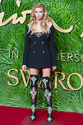 © Licensed to London News Pictures. 04/12/2017. London, UK. STELLA MAXWELL arrives for The Fashion Awards 2017 held at the Royal Albert Hall. Photo credit: Ray Tang/LNP
