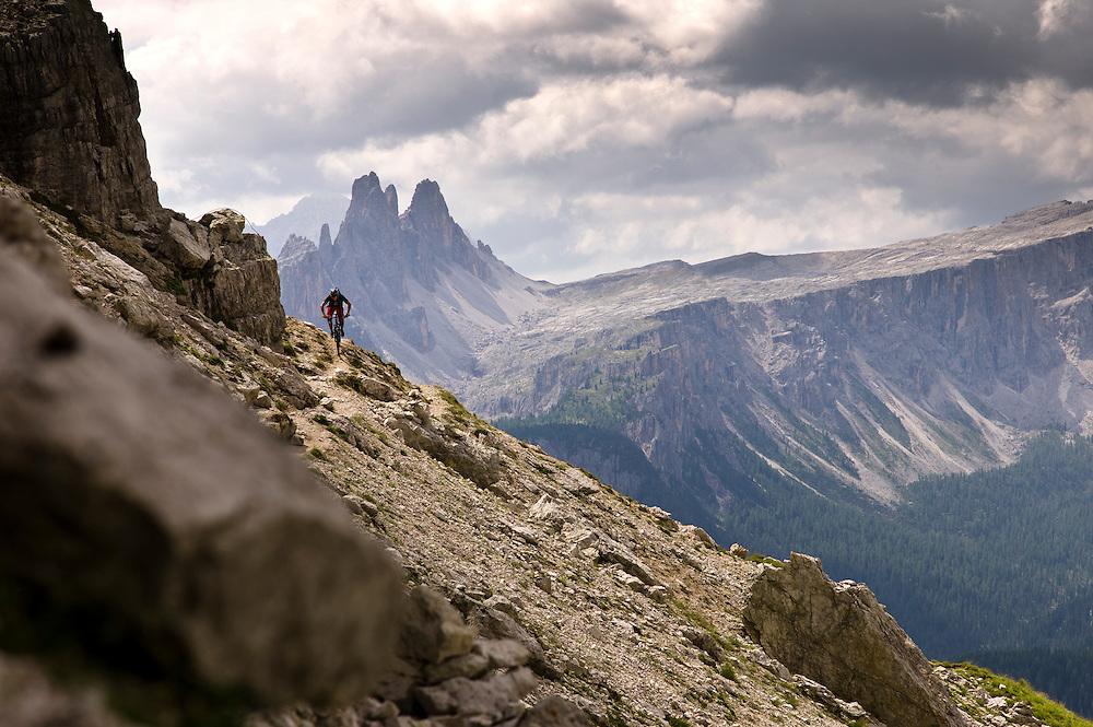 Pete Gaston, Dolomites, Italy. Shot for Trek bikes.