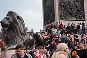 Sunderland Supporters, Trafalgar Sq. London. 30 March 2019