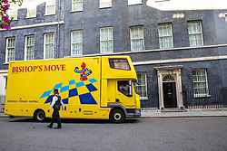 © Licensed to London News Pictures. 17/09/2019. London, UK. A Bishop's Move van arrives in Downing Street to deliver a piano. Photo credit: Dinendra Haria/LNP