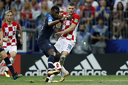 (l-r) Paul Pogba of France, Ante Rebic of Croatia during the 2018 FIFA World Cup Russia Final match between France and Croatia at the Luzhniki Stadium on July 15, 2018 in Moscow, Russia