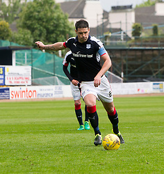 Dundee's Darren O'Dea scoring their penalty goal. Dundee 1 v 1 Ross County, SPFL Ladbrokes Premiership played 13/5/2017 at Dens Park.
