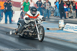 Sturgis Dragway race finals on Wednesday during the annual Black Hills Motorcycle Rally. Sturgis, SD, USA. August 6, 2014.  Photography ©2014 Michael Lichter.