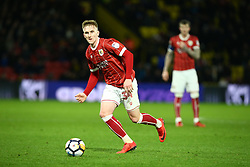 January 6, 2018 - Watford, England, United Kingdom - Bristol City's Connor Lemonheigh-Evans..during FA Cup 3rd Round match between Watford  and Bristol  City at Vicarage Road Stadium, Watford ,  England 06 Jan 2018. (Credit Image: © Kieran Galvin/NurPhoto via ZUMA Press)