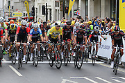 The start of the London Stage of the Aviva Tour of Britain, Regent Street, London, United Kingdom on 13 September 2015. Photo by Ellie Hoad.