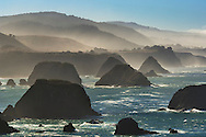 The rugged coastline of the Mendocino coast; near Elk; California